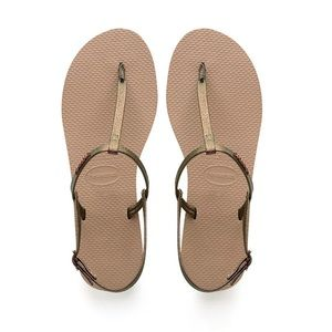 Havaianas You Riviera Flip Flop Sandals- Rose Gold